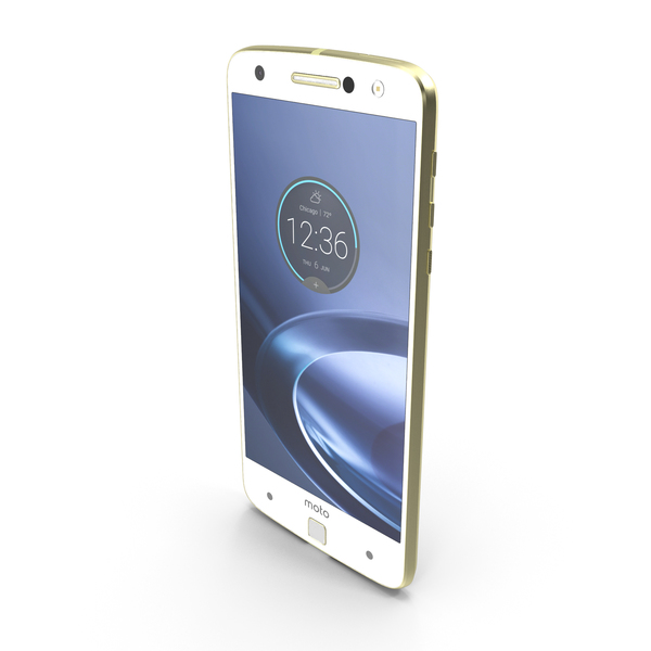 Motorola Moto Z Force (Droid) Gold PNG & PSD Images