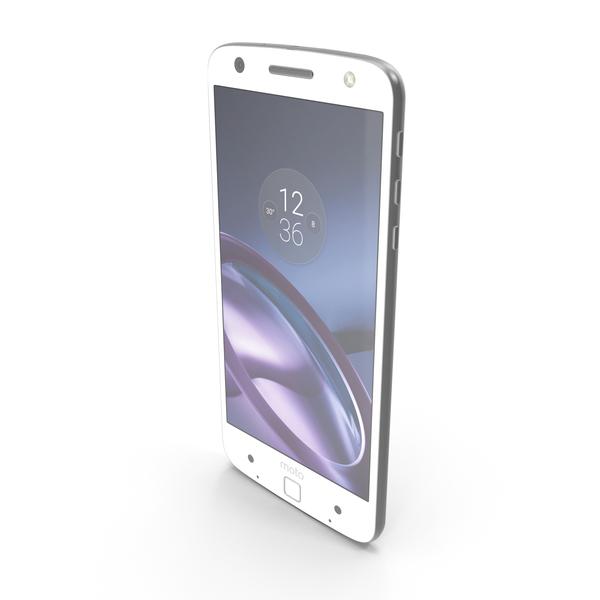 Motorola Moto Z White PNG & PSD Images