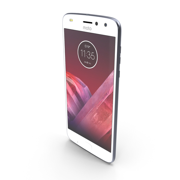 Motorola Moto Z2 Play Silver PNG & PSD Images