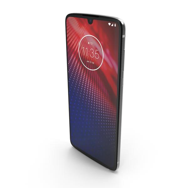 Motorola Moto Z4 White PNG & PSD Images