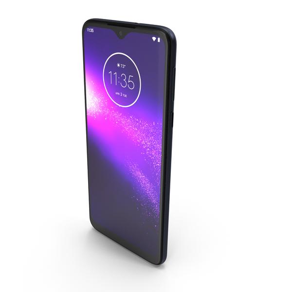 Motorola One Macro Space Blue PNG & PSD Images