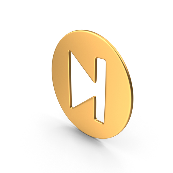 Movie Player Symbol Gold PNG & PSD Images