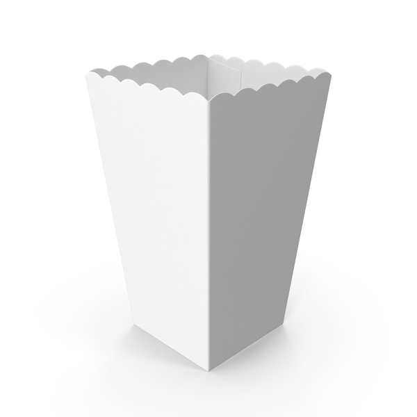 Movie Popcorn Carton Object