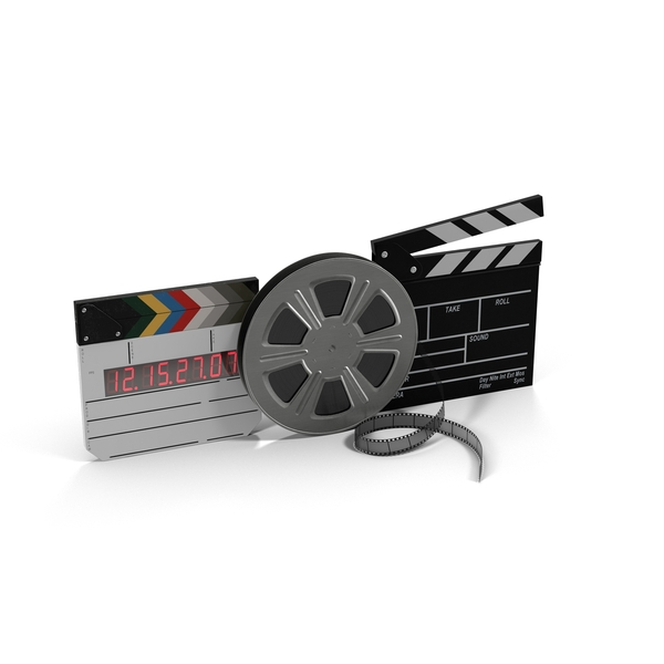 Movie Reel and Clapperboards PNG & PSD Images