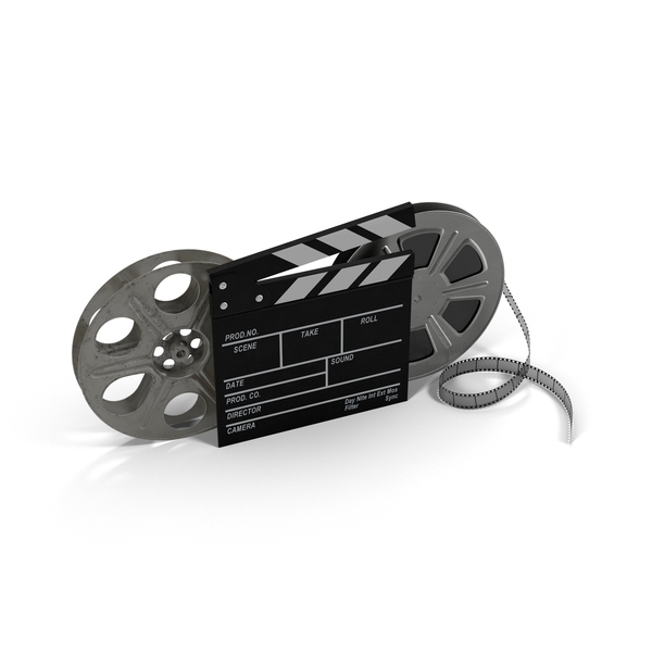 Movie Reels and Clapperboard PNG & PSD Images