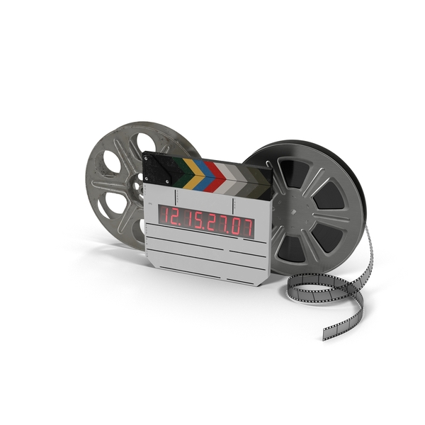 Movie Reels with Clapper PNG & PSD Images