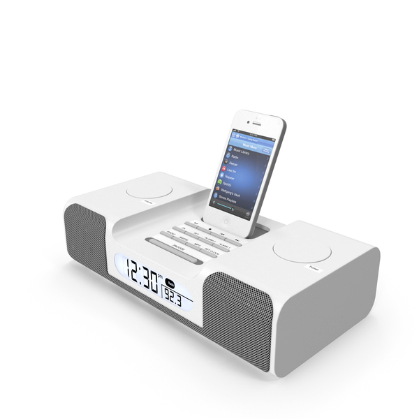 MP3 Clock Radio PNG & PSD Images