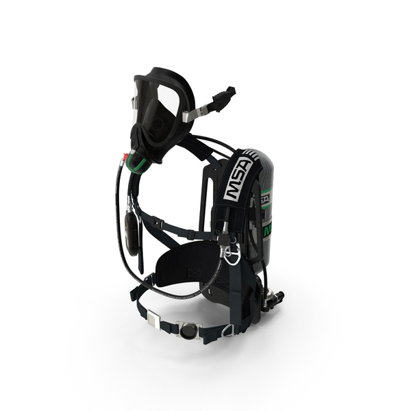 Scuba Mask: MSA G1 SCBA Breathing Apparatus PNG & PSD Images