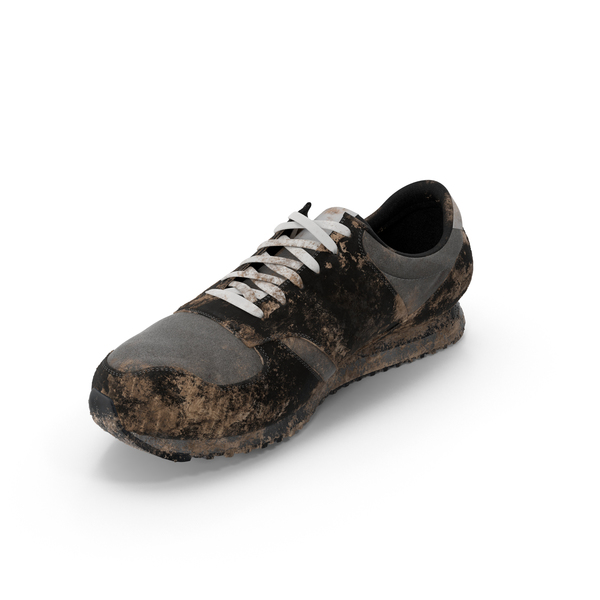 Muddy Running Shoe Object