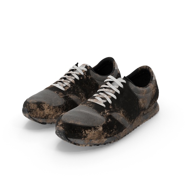 Muddy Running Shoes Object