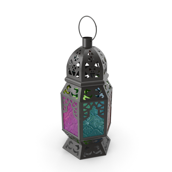 Multi-Coloured Moroccan Lantern PNG & PSD Images