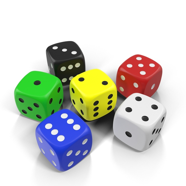 Multicolor Dice Object
