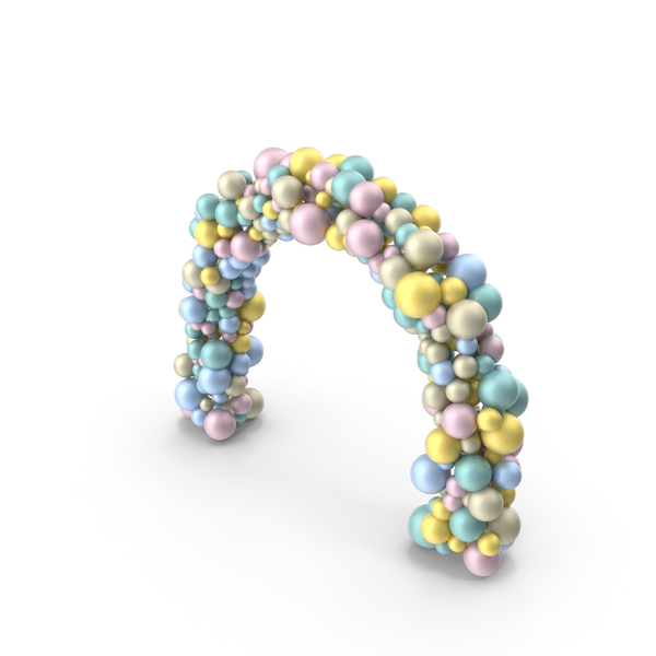 Multicolored Balloon Arch PNG & PSD Images