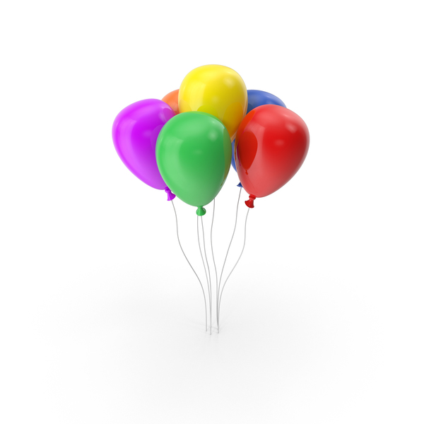 Multicolored Balloons PNG & PSD Images