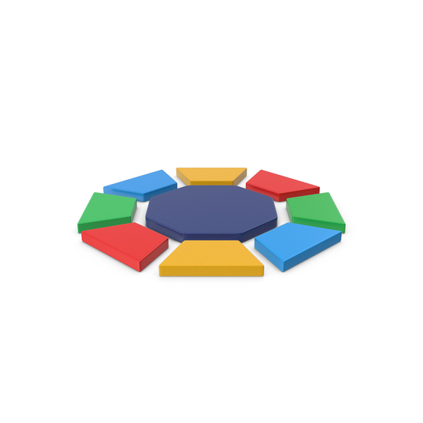 Logo: Multicolored Octagon Symbol PNG & PSD Images