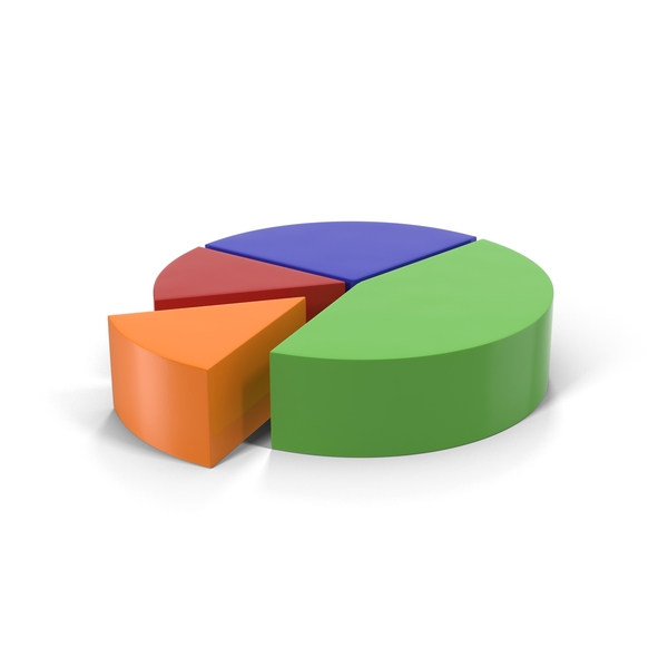 Multicolored Pie Chart Segment Object