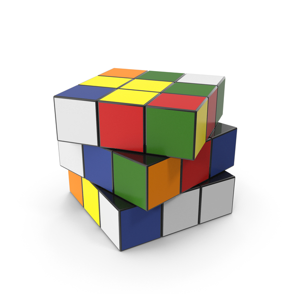 Cube: Multicolored Puzzle Cubes PNG & PSD Images