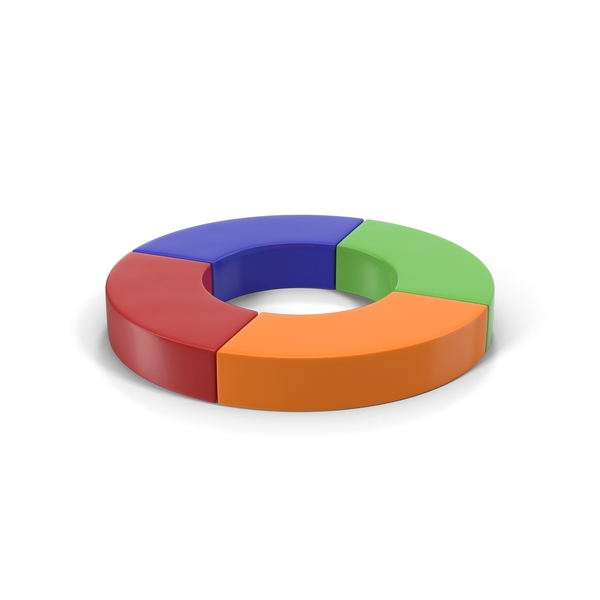 Multicolored Quarter Donut Chart PNG & PSD Images