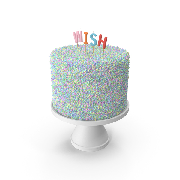 Multicolored Wish Cake PNG & PSD Images