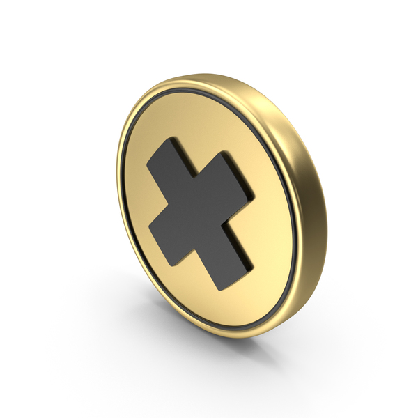 Multiply Cross Coin Sign Icon Symbol PNG & PSD Images