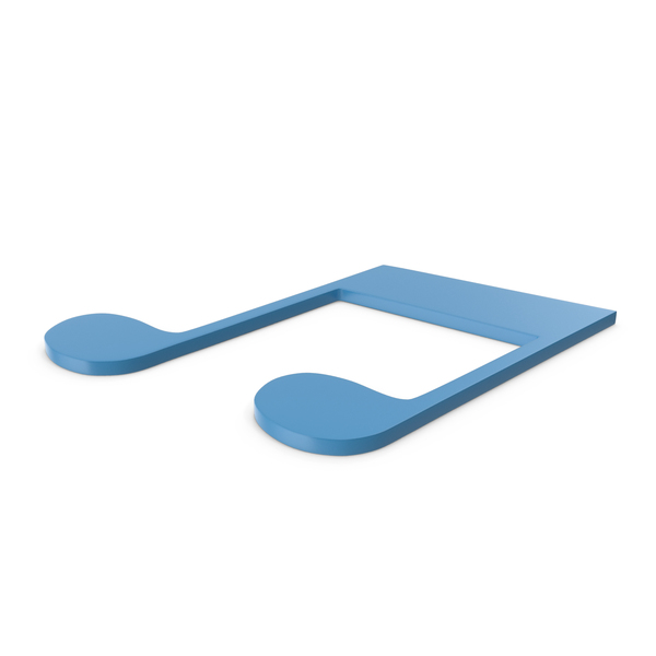 Musical: Music Note Blue PNG & PSD Images