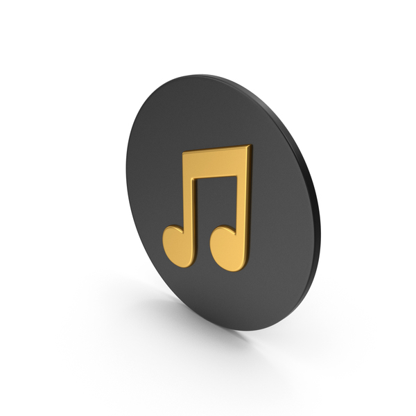 Musical: Music Note Gold Icon PNG & PSD Images