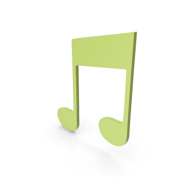 Musical: Music Note Green PNG & PSD Images