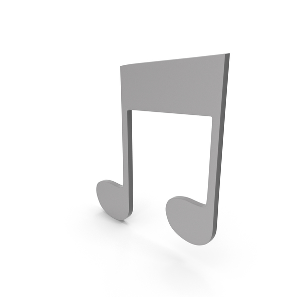 Musical: Music Note Grey PNG & PSD Images