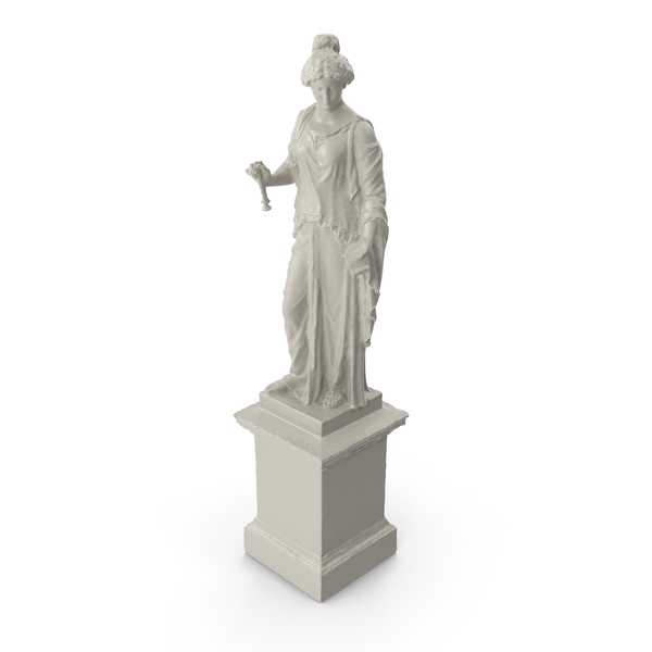 Musician Woman Statue PNG & PSD Images
