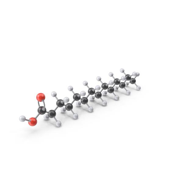 Myristic Acid Molecule PNG & PSD Images
