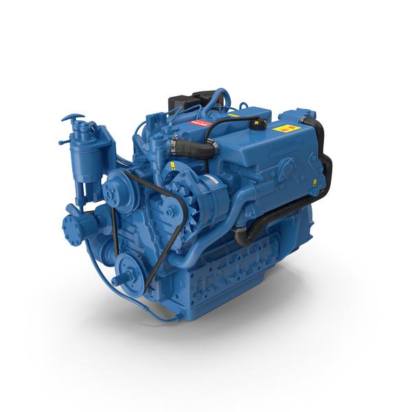 Nanni Diesel 4 Cylinder Marine Engine PNG & PSD Images