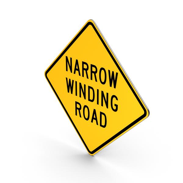 Narrow Winding Road Hawaii Sign PNG & PSD Images