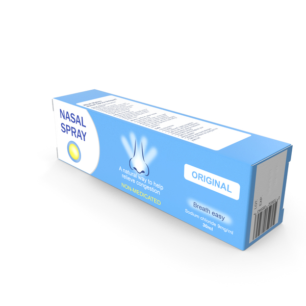 Packaged Medicine: Nasal Spray Box PNG & PSD Images