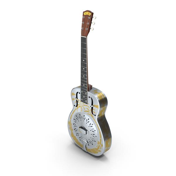 National O Resonator Guitar PNG & PSD Images