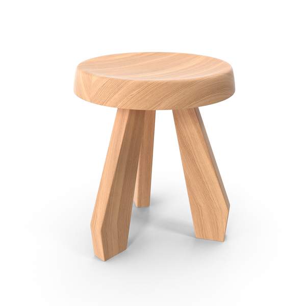 Natural Oak Tabouret Meribel Stool PNG & PSD Images