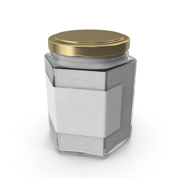 Natural Pigment in Glass Jar White PNG & PSD Images