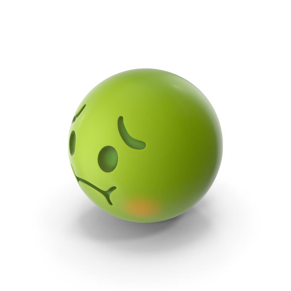 Nauseated Face Emoji PNG & PSD Images