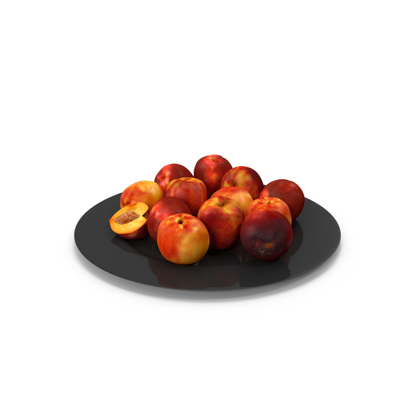 Peach: Nectarine Plate PNG & PSD Images
