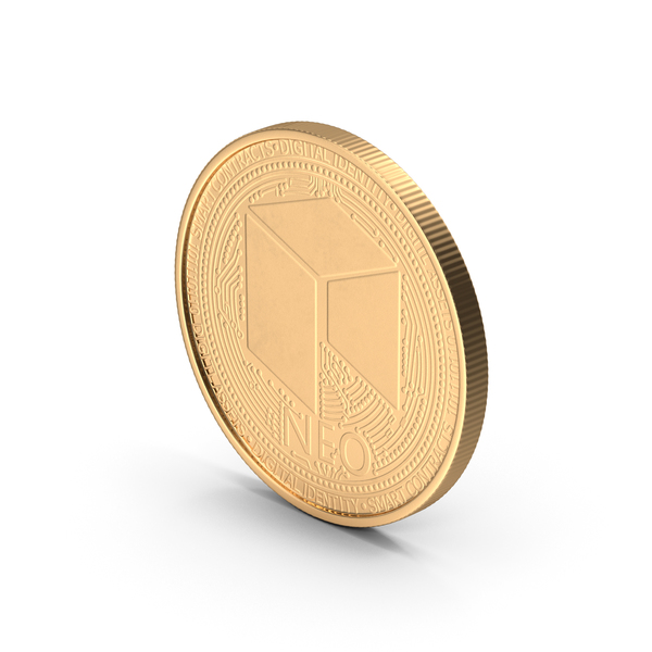 NEO Cryptocurrency Coin Gold PNG & PSD Images