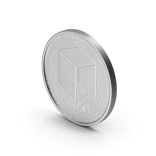 NEO Cryptocurrency Coin Silver PNG & PSD Images
