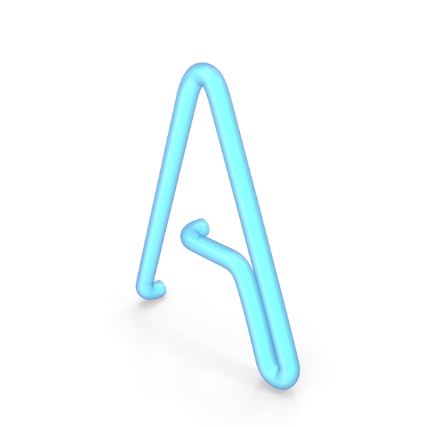 Language: Neon Letter A PNG & PSD Images