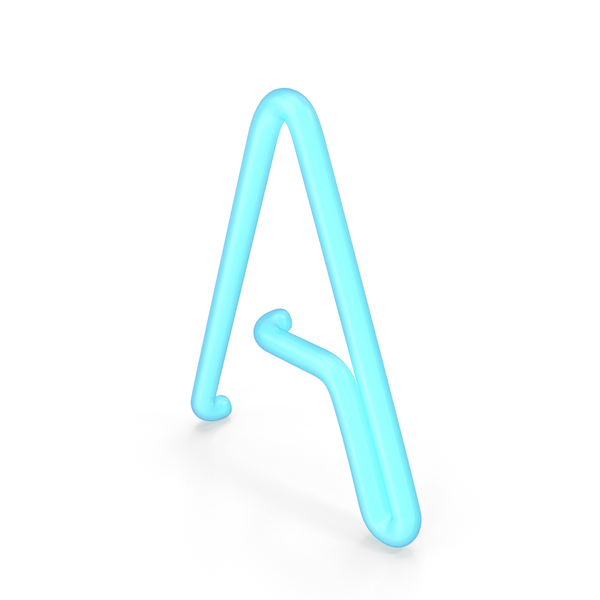 Neon Letter A PNG & PSD Images