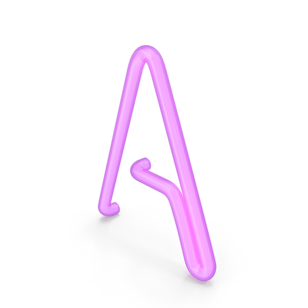 Light: Neon letter A PNG & PSD Images