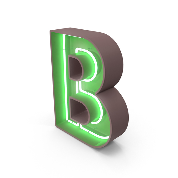 Neon Letter B PNG & PSD Images