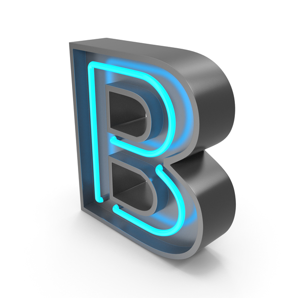 Light: Neon Letter B PNG & PSD Images