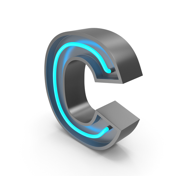 Neon Letter C PNG & PSD Images
