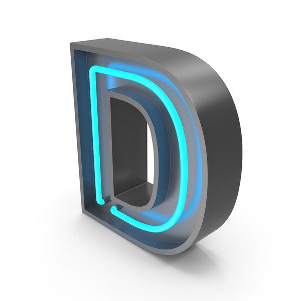 Neon Letter D PNG & PSD Images