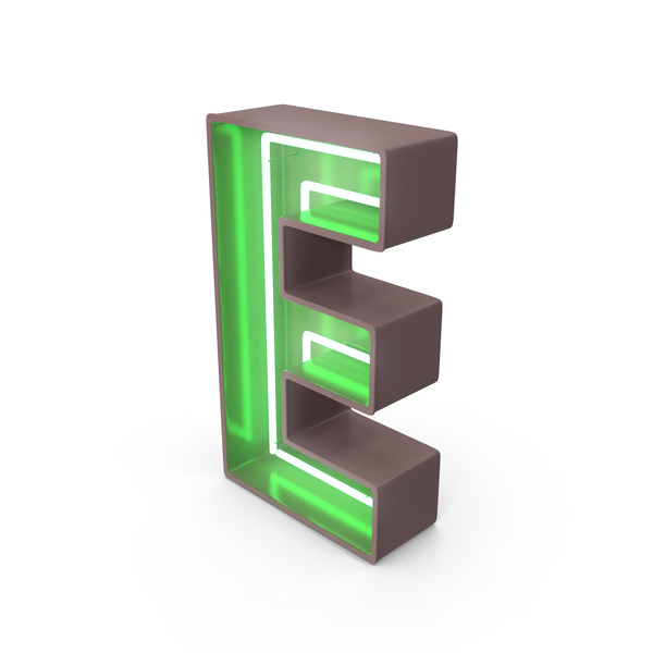 Neon Letter E PNG & PSD Images