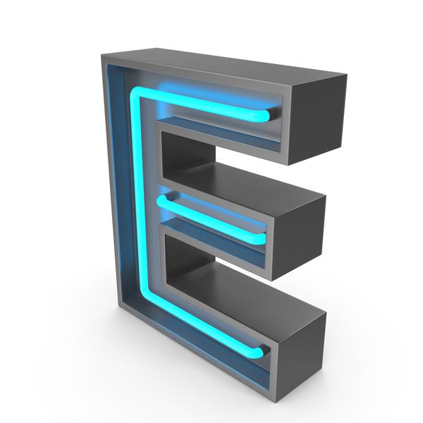 Light: Neon Letter E PNG & PSD Images