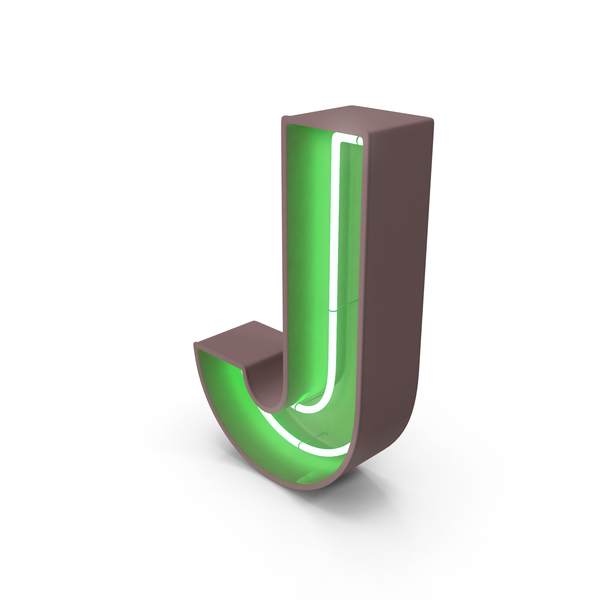 Neon Letter J PNG & PSD Images